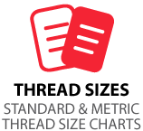 standard and metric thread size charts
